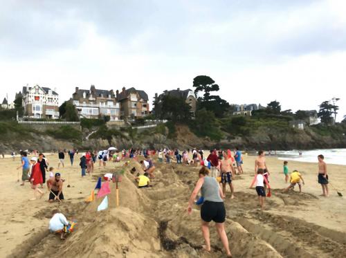 vacances , château, sable, plage